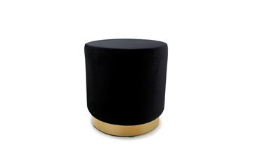 pouffe black zwart goud gold velvet salt and pepper interior design living seating