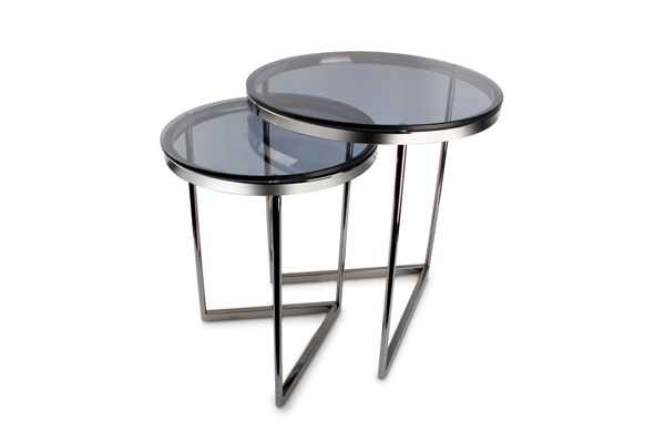 bijzettafel side table interior living furniture Rama black smoked glass